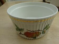 "ROYAL WORCESTER EVESHAM SOUFFLÉ SERVING DISH - 5.5"" DIAMETER - GREAT CONDITION"
