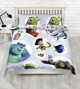 Disney Pixar Double Duvet Cover Toy Story, Finding Nemo, Cars & Monsters Inc