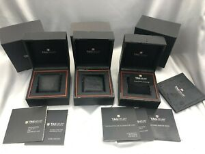Genuine TAG Heuer Empty Watch Box Case 3set Authentic Booklet 210106028 P250N