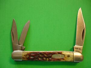 "NTSA VNTG CASEXX USA 3 1/4"" CLOSED 3 BLADE ""WHITTLER"" POCKET KNIFE #6308 80-89"