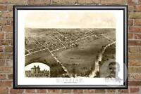 Vintage Ionia, MI Map 1868 - Historic Michigan Art - Old Victorian Industrial