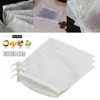 5Pcs Reusable Mesh Nylon Nut Milk Cheese Cloth Bag Cold Brew Coffee Filter