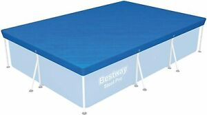 """Bestway Steel Pro Swimming Pool Cover Rectangle 118"""" x 79"""" (300 x 200cm) 9ft 10"""""""