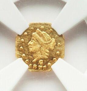 1871 BG-767 NGC MS62 PL Liberty Octagonal California Fractional Gold Quarter 25C