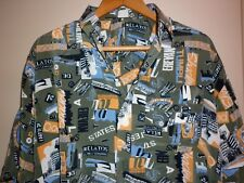 VINTAGE POLYESTER FUNKY  PRINT SHIRT SIZE XL EXC- CONDITION