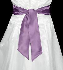 "3""x58"" SATIN Fancy Dress Party Wedding SASH Tie Belt Bow Band Bridesmaid Prom"