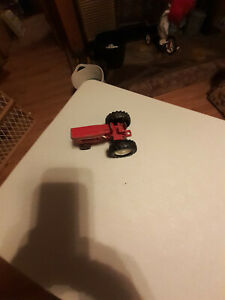 Vintage Small International Toy Tractor Red Harvester Die Cast
