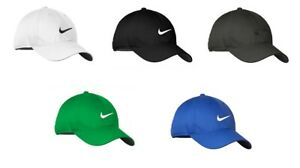 NEW NIKE HAT-WITH-SWOOSH-DRI-FIT-AUTHENTIC CAP-ADJUSTABLE -FAST-FREE-SHIPPING