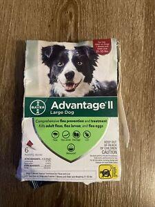 Bayer Advantage II Flea Control Large Dogs 21-55 lbs  6-Dose Damaged Box