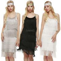 Fashion Women Straps Dress Tassels Glam Party Dress Gatsby Fringe Flapper LM 01