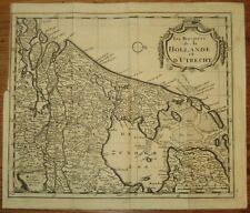 18eme, BELLE CARTE DES PAYS-BAS, Les provinces de la Hollande et d'Utrecht, LA18