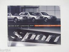 1996 Mercedes Benz M-B Sport C280 E420 SL-Class Sales Brochure Catalog