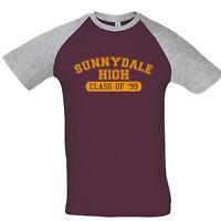 Sunnydale High Buffy Vampire Slayer Raglan Baseball Jersey T-Shirt Retro 90s