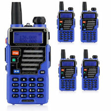 5x Baofeng Uv-5r Plus Qualette Blue Dual Band 2m/70cm 5w 2-way Radio Earpiece
