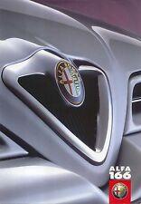 Alfa Romeo 166 2.0 TS 2.5 V6 3.0 V6 1999 Original UK Launch Sales Brochure