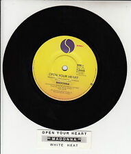 "MADONNA  Open Your Heart  7"" 45 rpm vinyl record + juke box title strip"