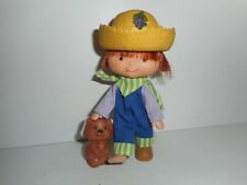 Vintage Strawberry Shortcake Huckleberry Pie with Pupcake Doll Figure 1979