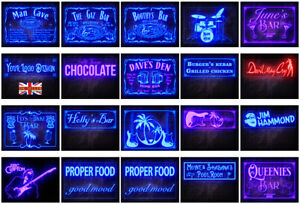 Own Design Name Personalized Custom Poster size LED Neon Bar Sign 600x200