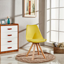 Scandi Sofia Dining Chair, Eiffel Inspired, Solid Wood ABS Plastic Padded Seat
