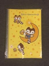 Sanrio 1999 Laundry Racoon Yellow notebook Tokyo, Japan