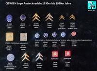 CITROEN AUTO Logo Abzeichen Anstecknadeln stick pins 1930er-1990er J. AUSSUCHEN