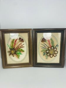 """1986 Prairie Pictures Ellen Kiefert Framed Wall Art 9 1/2"""" x 7 1/2"""""""