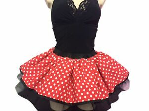 MINNIE MOUSE STYLE RED TUTU SKIRT 80S FANCY DRESS HEN PARTY BOOK WEEK POLKADOT