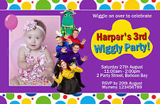 Personalised Wiggles Dorothy the dinosaur Tinkerbell Party Birthday Invitations