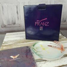 Franz 2003 seagul butterfly papillion plate flower dessert porcelain