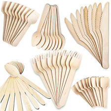 Disposable Wooden Cutlery Eco Friendly Biodegradable  Spoons  Spades