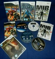 Lot of 4 Wii; MIB Alien Crisis,Iron Man 2, w/Mans, Golden Eye,Avatar The Game,VG