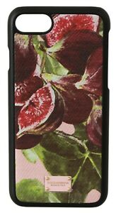 DOLCE & GABBANA Phone Case Cover Leather Fig Purple Pink iPhone 7-8