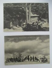 Lot of 2 HIDDEN VALLEY DUDE RANCH, Lake Luzerne, NY, 1943 Postcards