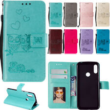 Flip 3D Embossed Patterned PU Leather Wallet Card S lot Stand Case TPU Cover