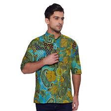 Men Short Sleeve Designer Cotton Short Kurta Casual Festive Wear Printed  4499