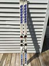 Vintage K2 4500 Snow Skis 1985 175Cm With Salomon S647 Bindings