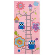Think Rugs Hong Kong Modern Design Birds Theme Bright Kids Pink Rugs 70 x 140 cm