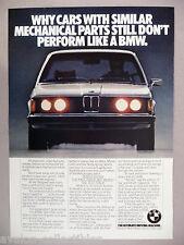 BMW 320i PRINT AD - 1977