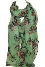 Sciarpa da donna verde floreale