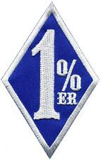 One Percenter 1%er biker outlaw motorcycle gang applique iron-on patch S-1182