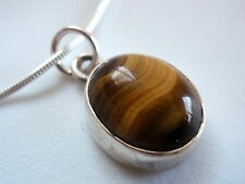LAST ONE! Tiger Eye Sterling Silver Necklace best offer