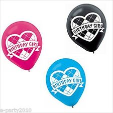 MONSTER HIGH LATEX BALLOONS (6) ~ Birthday Party Supplies Decorations Helium