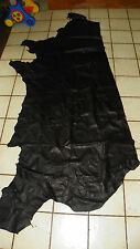 Black Grained Half Hide of Leather 34 x 65  F04