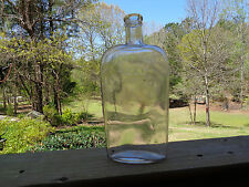 Vtg Warranted Cork Top Strap Side Sided Flask Bottle Lots of Bubbles