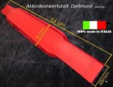 8 x 54 cm Akkordeon ( Leder ) Bassgurt, Bassriemen,  accordion bass belt / strap