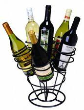 Bottle Bouquet Wine Rack Black 6 Bottles Holder Kitchen Bar Countertop Display
