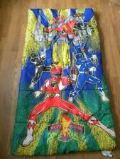Power Rangers Mighty Morphin Childrens Sleeping Bag Blanket 1994 Saban Camping