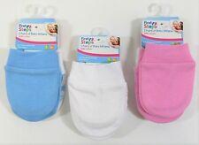 Baby Babies Girls Boys Gloves Mittens Scratch Mits Newborn Plain Cotton Star 0-6