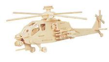 Apache ejército Helicóptero 3d De Madera de modelización Kit Modelo Rompecabezas