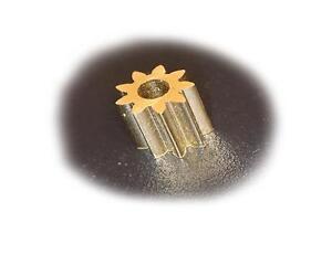 Ersatz Zahnrad Messing für Lego Duplo Intelli Lok M0,4, 9 Zähne D4,8 L5 B1,95